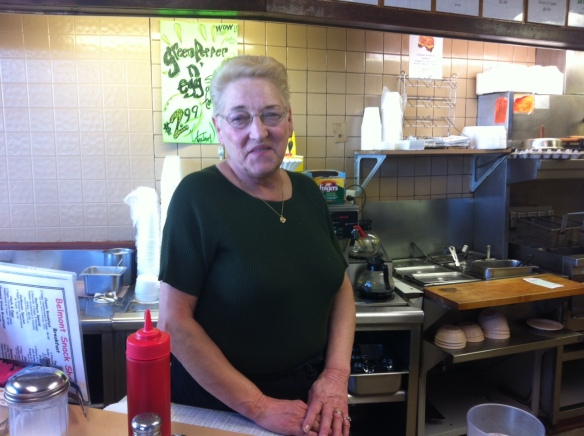 Linda at Belmont Snack Shop